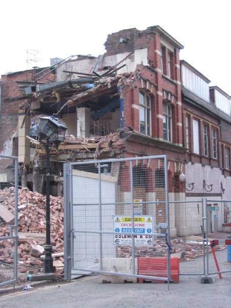 15 Lower Severn Street after demolition
