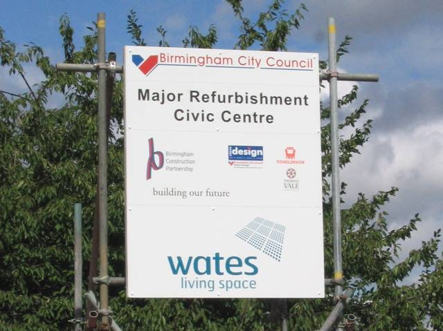 Civic Close refurb sign