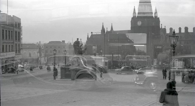 Bull Ring (double exposure)