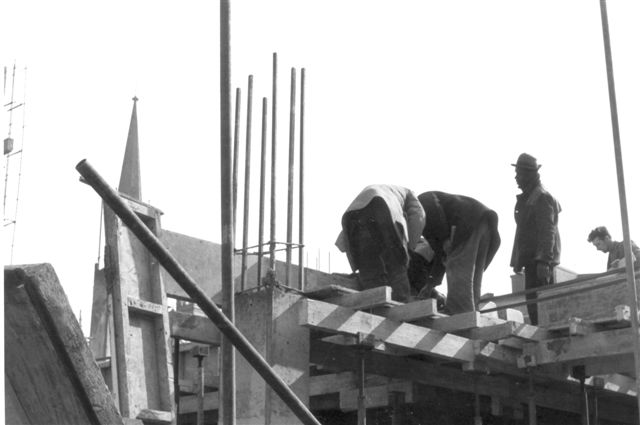 Workers near the Bull Ring