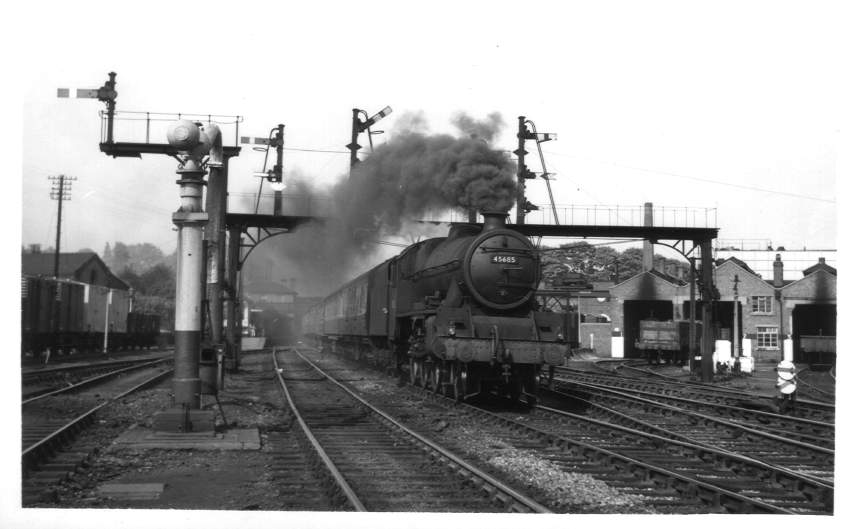 45685 near Bromsgrove Station 1954