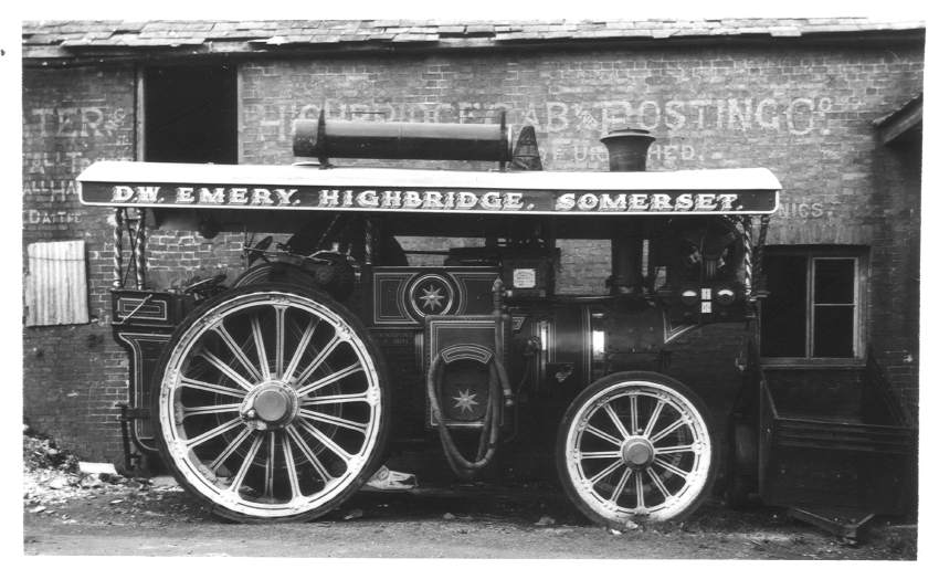 Chas Burrell traction engine, Highbridge 1963
