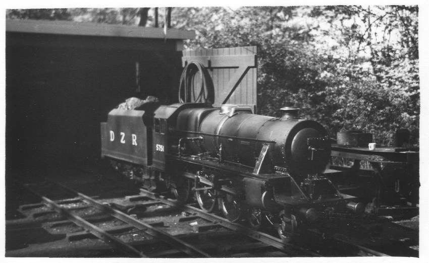 DZR 5751 on shed 1957