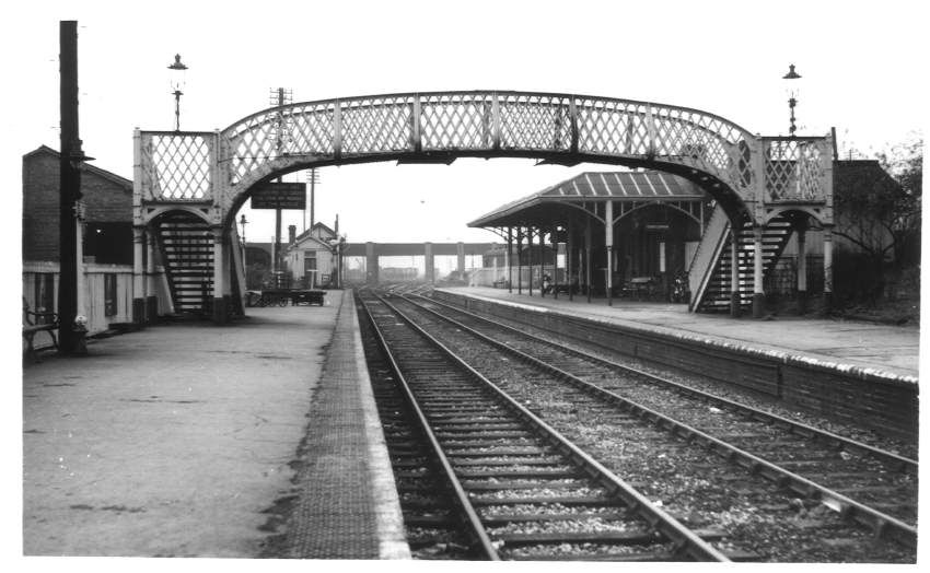 Evesham Stn from East 1961