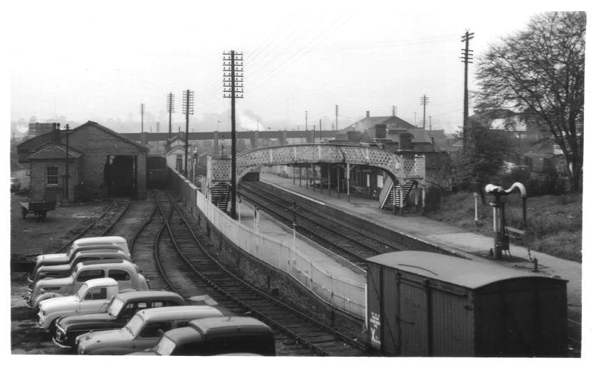 Evesham Station from High St 1962