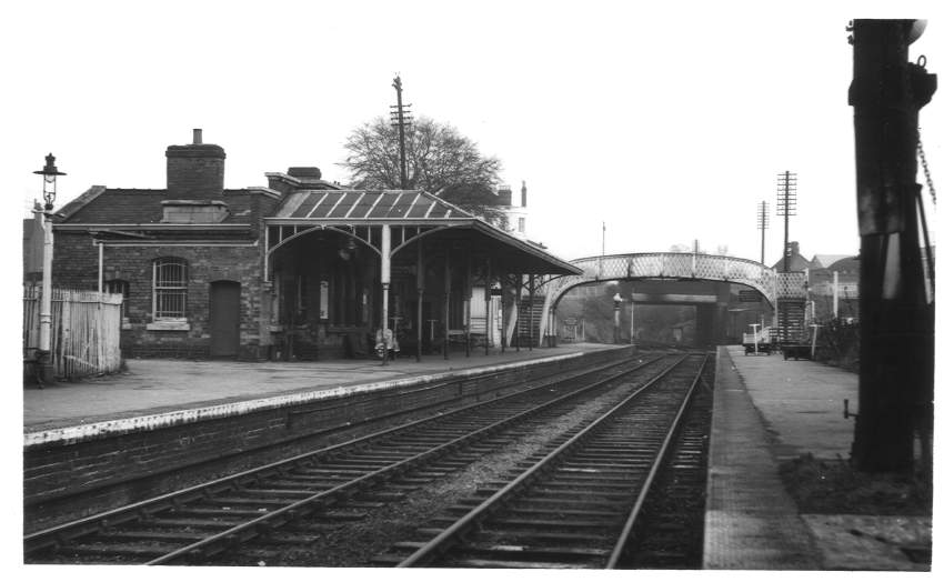Evesham Station from West 1961