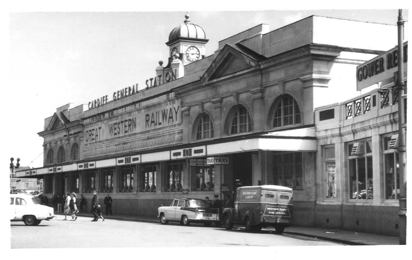 Exterior of Cardiff General Station 1964