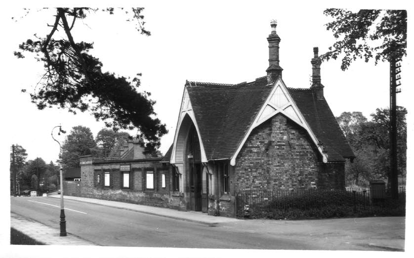 Exterior of Hampton-in-Arden Station 1955