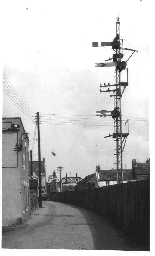 Home signal, Burnham branch, Highbridge 1963