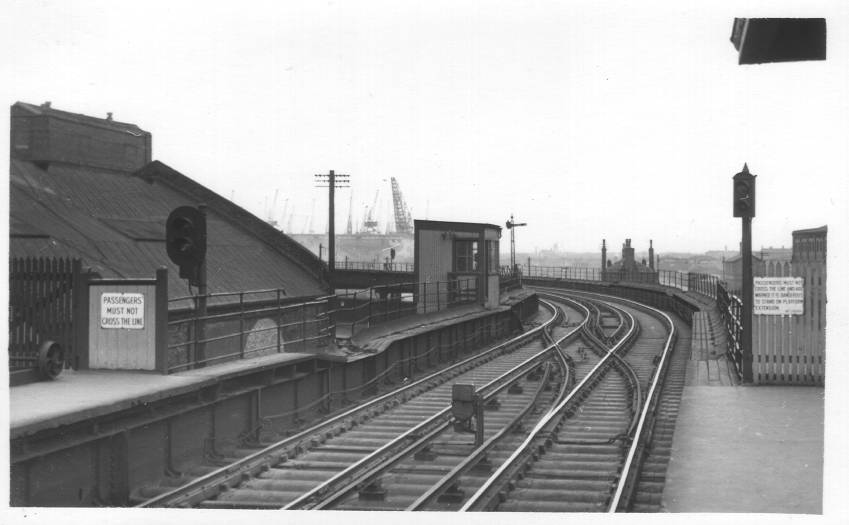 North end of Alexandra Dock Station
