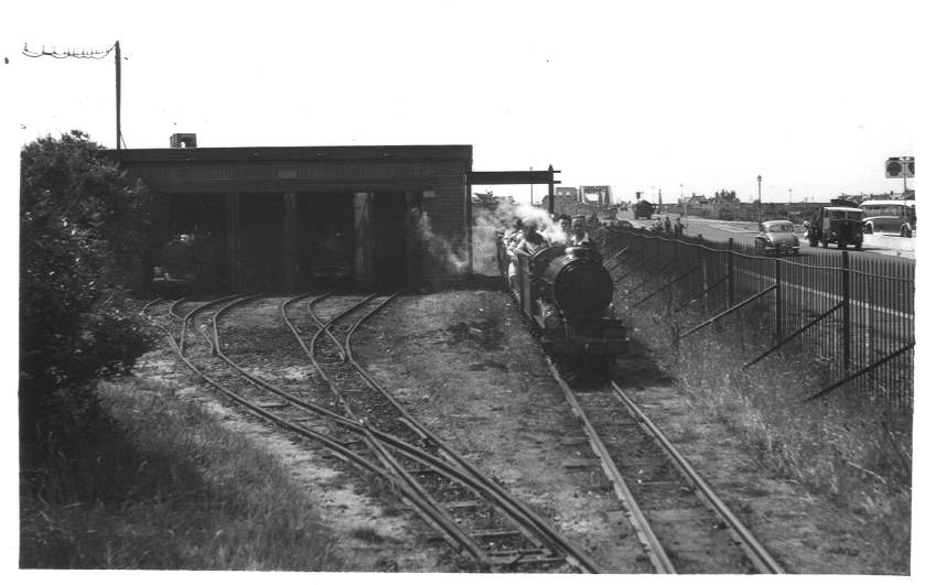 RMR Billy passing shed 1955