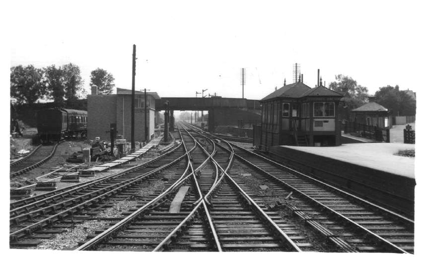 South end of Ashchurch Station 1957