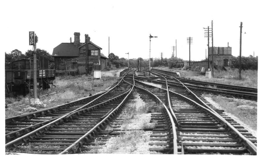 Stratford-on-Avon (SMJ) Station from west 1962