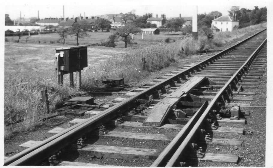 Wire operated points near Aldridge 1955